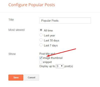 Setting Popular Posts