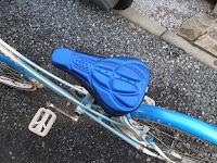 SODIAL(R)サイクリングMTB自転車のサドルカバー 気持ちいい自転車のシートクッション 3D通気性が良いのソフトパッド 青