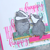 Handmade card featuring Stampin Up Badger Besties and Biggest Wish stamp sets and watercolour pencils. Card by Di Barnes - Independent Demonstrator Stampin' Up! in Sydney Australia - colourmehappy - sydneystamper - cardmaking - stamping - 2021-22 Annual Catalogue