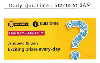 Amazon Today Quiz Answer