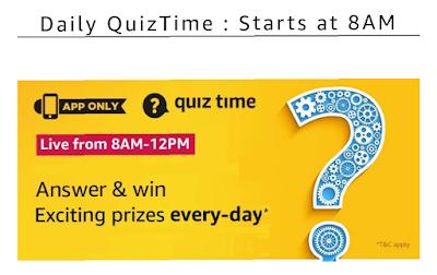 Amazon Today Quiz Answer