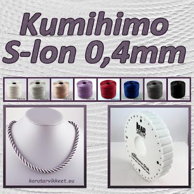 S-lon 0,4mm kumihimo tarvikkeet, siemenhelmet - helmikauppa netissä