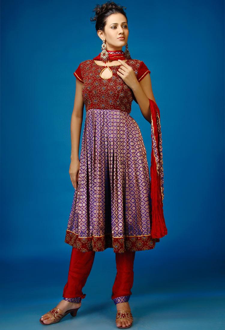 All Hair Style Anarkali Dresses Designs