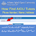 How to Find AIOU Tutor Phone Number Address And Name