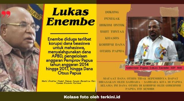 Gubernur Papua Diduga Korupsi Dana Otsus, Netizen Super Geram: Koruptor Harus Ditindak Tegas, Tangkap Lukas Enembe!