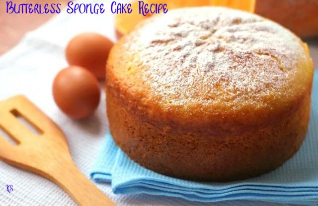 Butterless Sponge Cake Recipe