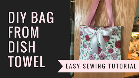 DIY How to Make a Tote Bag / Purse from a DishTowel
