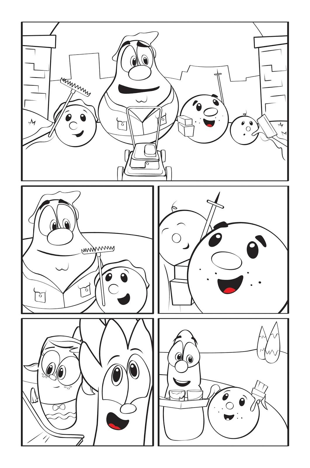 philip a buck coloring veggietales super comics larryboy u0026 the