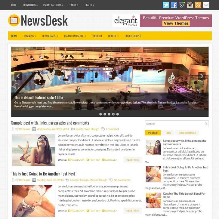 Тема за Blogger NewsDesk