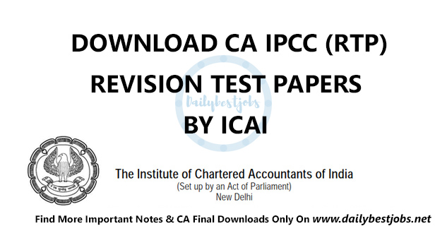 CA IPCC RTP Nov 2018, CA IPCC Revision Test Papers Download PDF