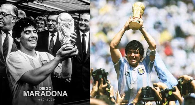 greatest football player Maradona has died