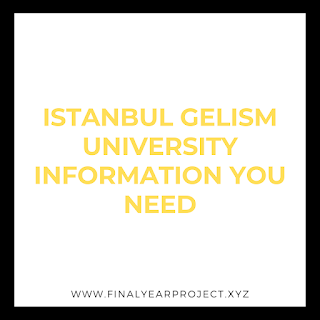 ISTANBUL GELISM UNIVERSITY INFORMATION YOU NEED