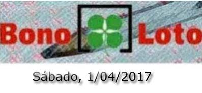 Lotería Bonoloto del sábado 1 de abril de 2017