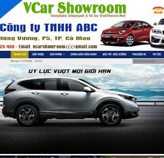 Giao diện Website cho Dịch vụ bán xe Ô tô - Theme Blogspot - Blogspotdep.com