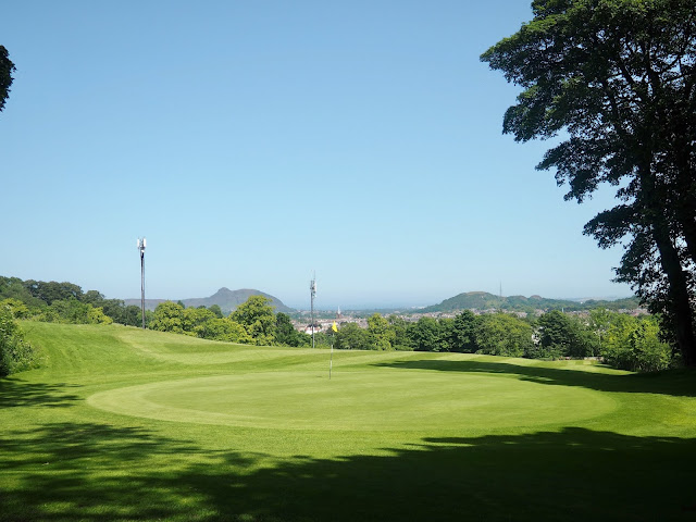 Golf course & view from Western Craiglockhart Hill, Edinburgh