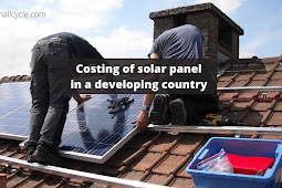 Costing of solar panel in a developing country