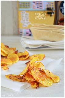Patatas chips fritas (no fritas) CRUJIENTES, CASERAS y PERFECTAS a la barbacoa