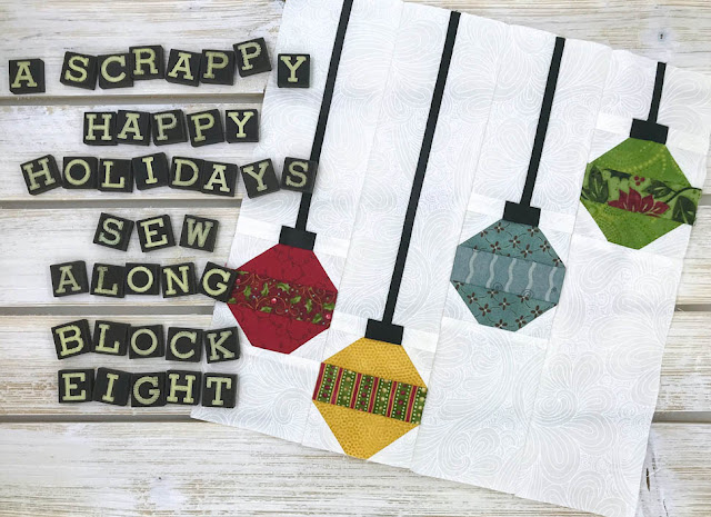A Scrappy Happy Holidays Mystery Sew Along Month 8 by Thistle Thicket Studio. www.thistlethicketstudio.com