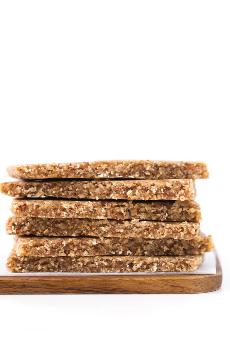 Dehydrated Energy Bars: These dehydrated energy bars are the perfect snack. They keep longer than raw and are more nutritious than baked.