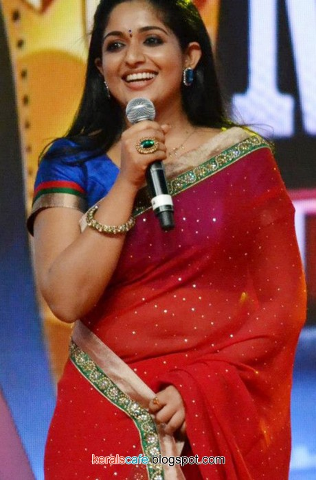 Kavya Madhavan Hot Saree Navel Show Stills  Kerals Cafe-5357