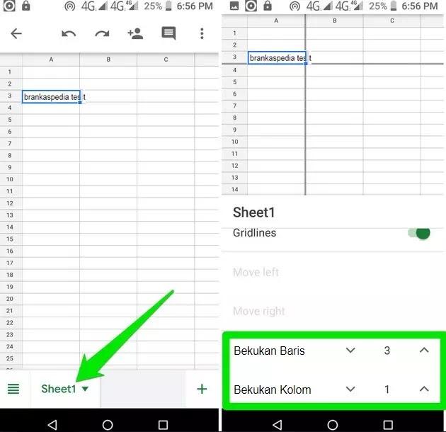 Cara Membekukan (Freeze) Baris atau Kolom di Google Sheets-3
