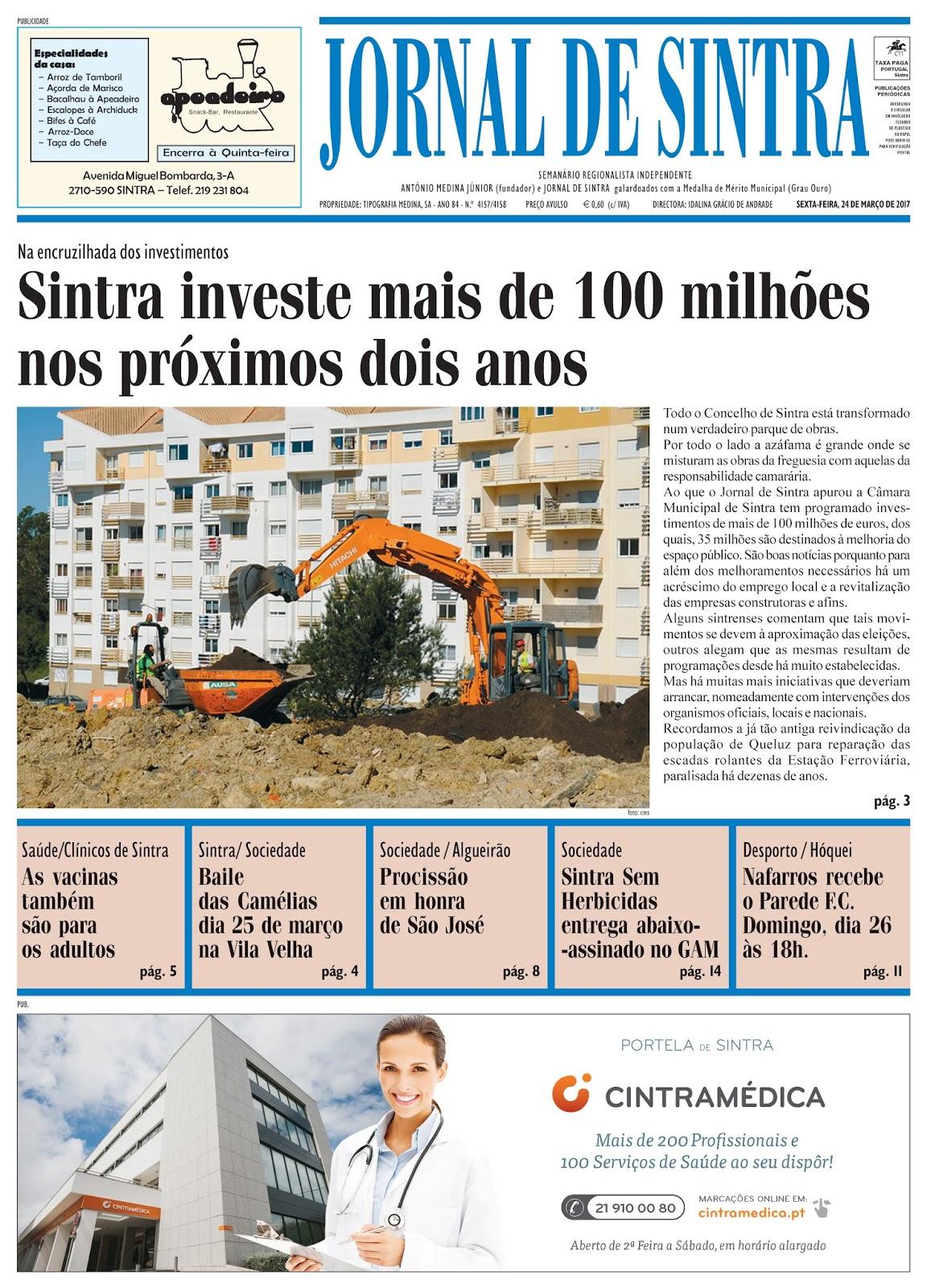 Capa da edição de 24-03-2017