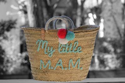 l 39 atelier des petites bauloises cabas personnalis my little mam. Black Bedroom Furniture Sets. Home Design Ideas