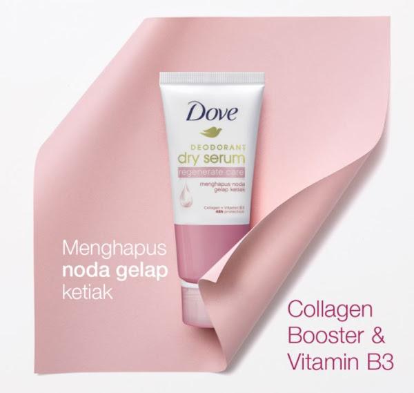 Dove Deodorant Dry Serum Memutihkan Ketiak Hitam dan Harum