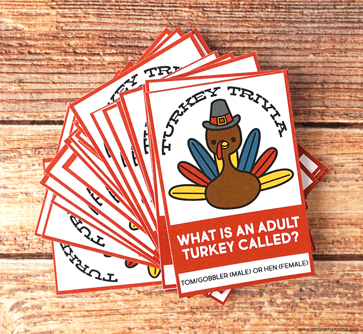Free Printable Turkey Trivia