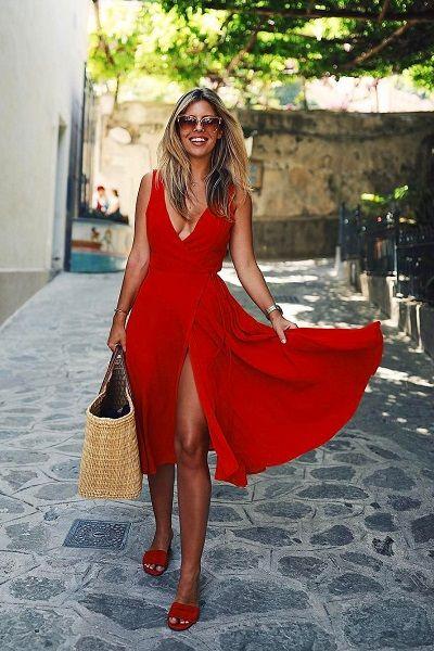 Looks de natal vestido vermelho