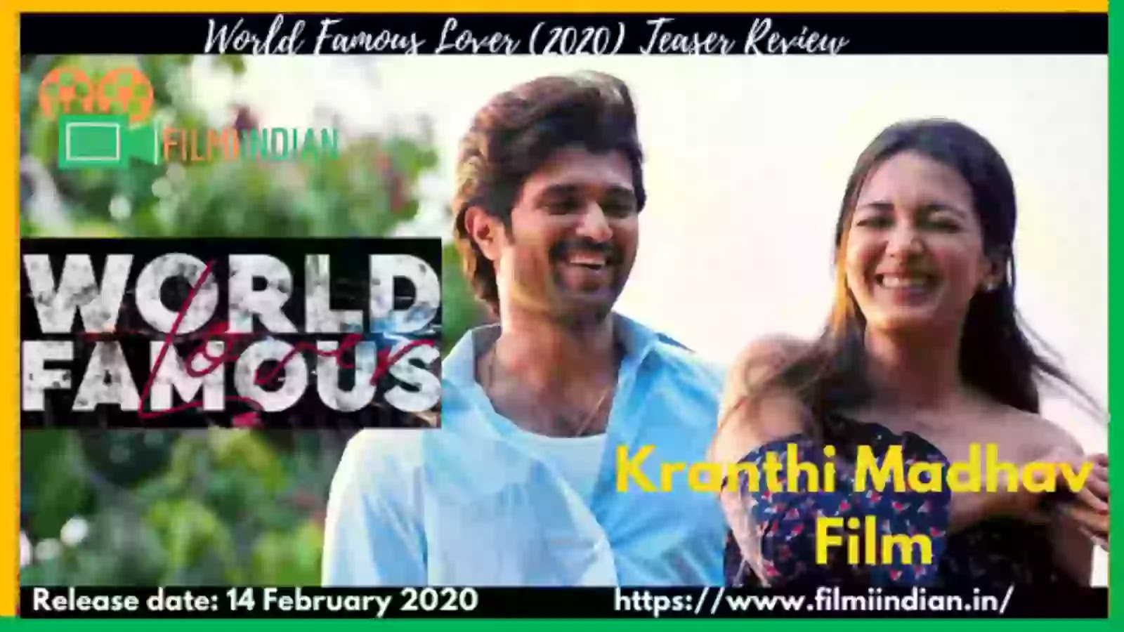 World Famous Lover : (2020) Teaser : Best and Honest Review By Filmi Indian