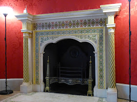 The Robert Adam fireplace in the Round Drawing Room, Strawberry Hill