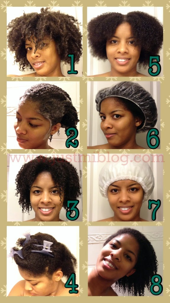 The steps to take when washing natural hair
