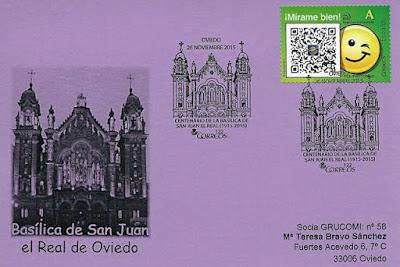filatelia, matasellos, San Juan, Oviedo, iglesia