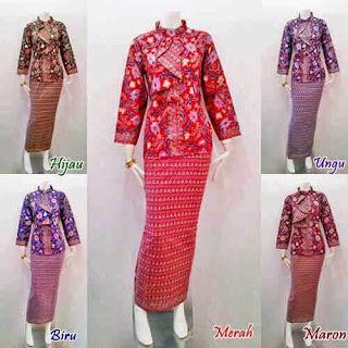 Contoh model Baju Batik Kerja Terbaru