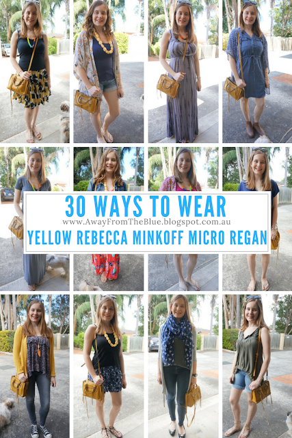 30 ways to wear Rebecca Minkoff Micro Regan Bag mustard yellow | AwayFromBlue