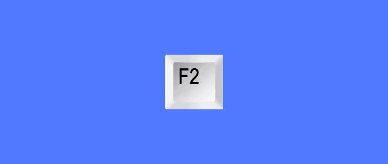 Atalho renomear um ficheiro tecla F2