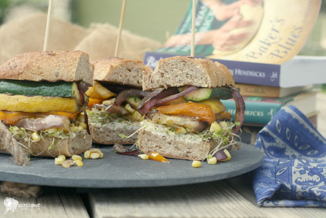 Grilled Veggie Sandwich w/ Goat Cheese (aka The Frodo) inspired by Baker's Blues