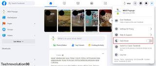 Mengganti Warna Tampilan Tatap Muka Facebook Menjadi Gelap