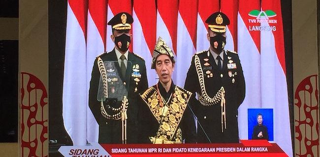 Jokowi Singgung Kursi Kosong Sidang Tahunan Di Awal Pidato Kenegaraan