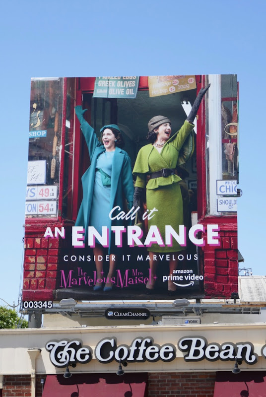 Mrs Maisel an Entrance 2019 Emmy FYC billboard