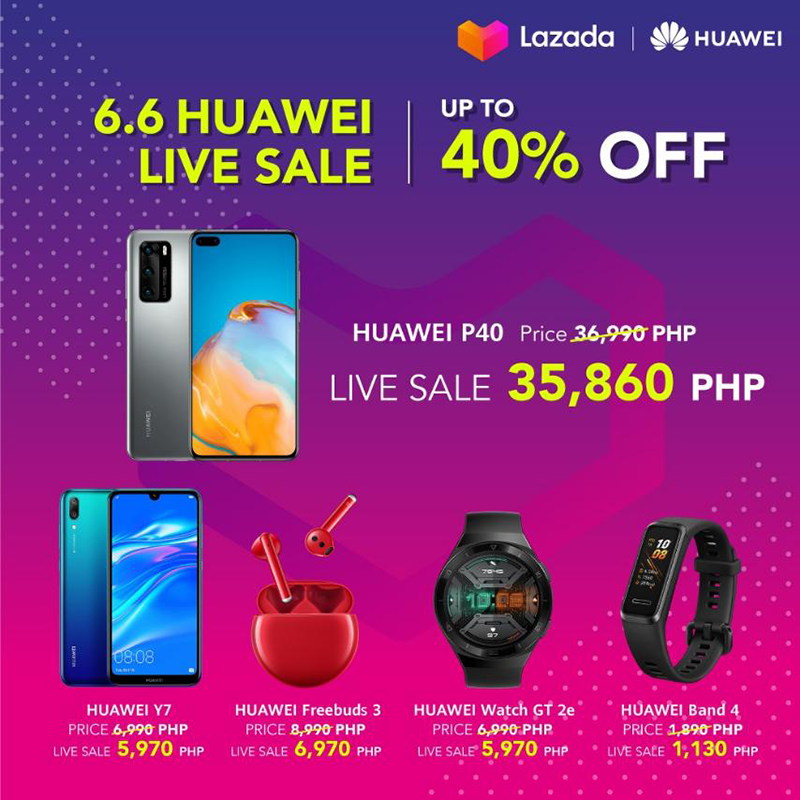 Huawei joins Lazada 6.6 Bounce Back Sale with big discounts on select devices!