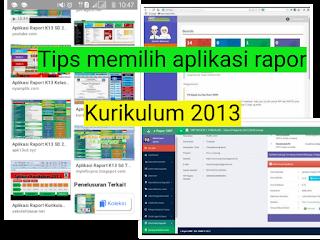 tips Memilih Aplikasi rapor kurikulum 2013