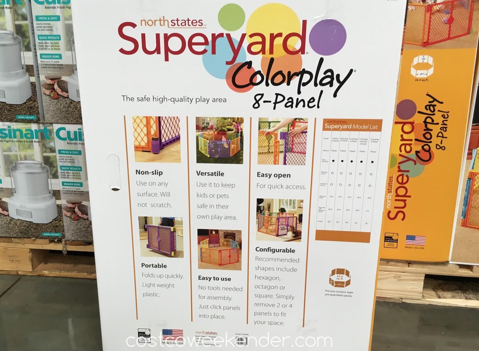 North States Superyard Colorplay 8 Panel Play Yard