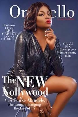 Funke Akindele Looks Cute as She Graces the Cover of OnoBello Mag Fashion Flash Issue