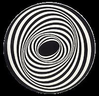 Geométrico espiral preto e branco em PNG