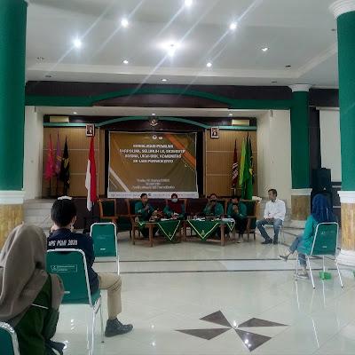 Sosialisasi Pemiluwa yang diadakan beberapa waktu lalu di Auditorium IAIN Purwokerto. (Foto : LPM Saka)