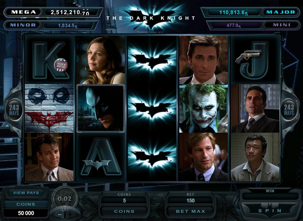 The Dark Knight Progressive Jackpot