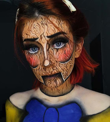Dolls are one of the creepiest toys ever created ✘ 23 Amazing Halloween Scarecrow Doll Makeup Ideas For Attractive Look
