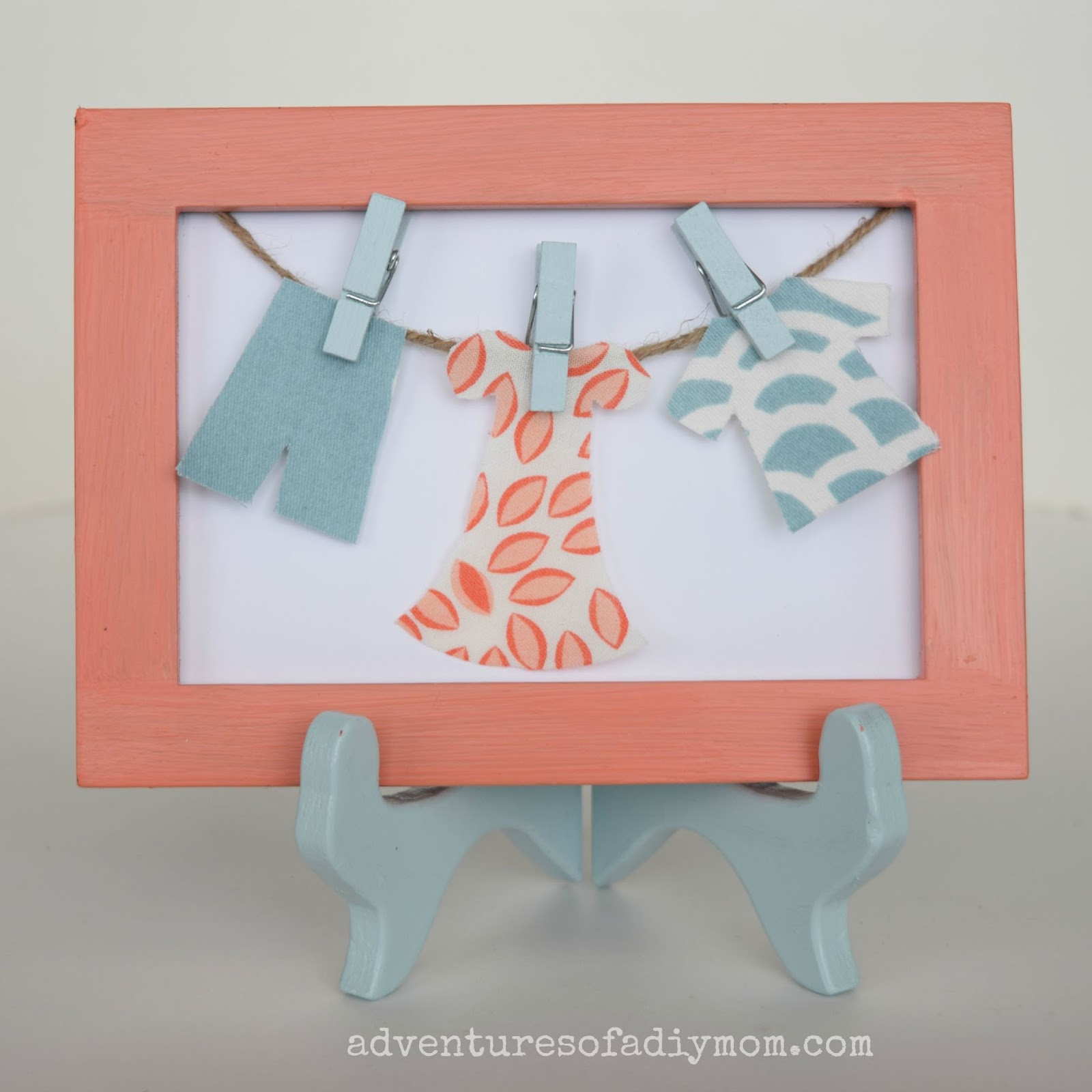 Clothesline Craft - Laundry Room Makeover - Adventures of a DIY Mom